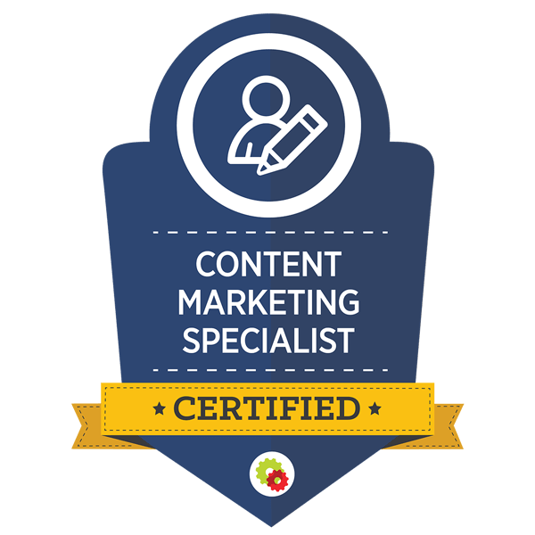 DigitalMarketer Certified Content Marketer, Badge