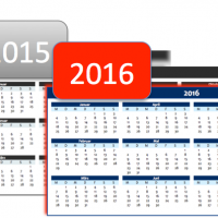 symbolic calendar history 2014, 2015 and new 2016 (c) icomod, 2016