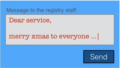 """mockup dialogbox with message """"Merry Xmas"""""""